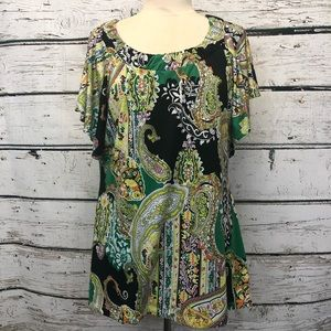 New Directions EUC size XL top w/ bell sleeves